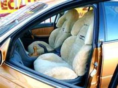 I have been craving sheep skin for the interior of my car. It just looks so natural. I think this belongs in a car.