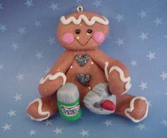 *POLYMER CLAY ~ Christmas Ornament Ginger Gingerbread Cookie with Cookie Cutter.