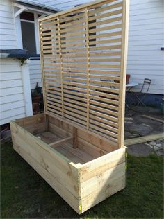 Local 29 Outdoor Privacy Screen with Planters Privacy Trellis, Privacy Planter, Patio Trellis, Privacy Screen Outdoor, Planter Bench, Plant Trellis, Balcony Privacy, Vertical Planter, Planter Boxes
