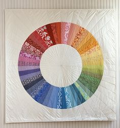 quilt design Color Wheel by Joelle Hoverson from the book Last Minute Patchwork & Quilted Gifts