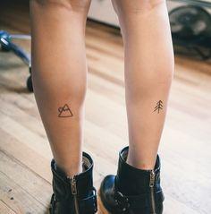 40 Cute Mountain Tattoo Designs 28