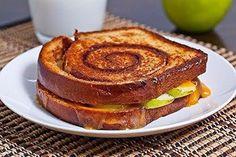 Apple Cinnamon Swirl Grilled Cheese Sandwich