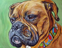 Boxer Mastiff Mix Painting by Steph Fitzsimmons WOOFFactory.com
