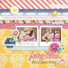 Princess Rapunzel digital scrapbook layout created by raquels featuring Project Mouse (Princess Edition) by Sahlin Studio and Britt-ish Designs