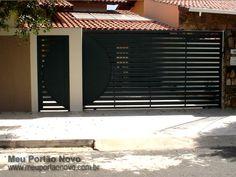 Meu Portão Novo My House, Blinds, Garage Doors, Yard, Curtains, Luxury, Building, Outdoor Decor, Fence Ideas