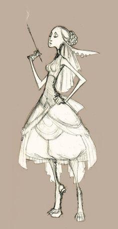 Sketch - victorian fantasy by `sambees on deviantART