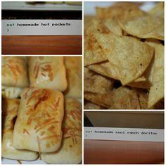 Homemade Hot Pockets AND Homemade Cool Ranch Doritos!