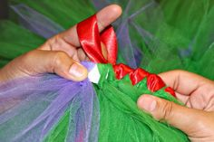 How to satin wrap a tutu