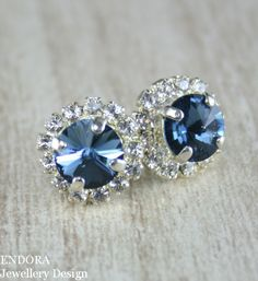 Blue crystal earringsDenim blue Crystal Stud by EndoraJewellery, $30.00