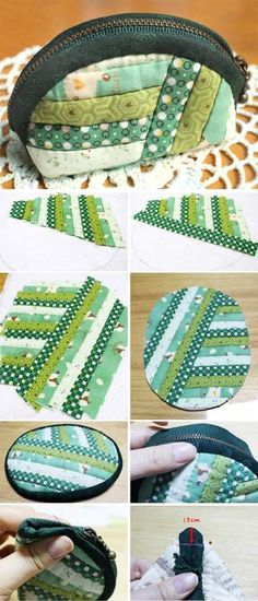 Striped Quilted Pouch Tutorial. http://www.handmadiya.com/2015/09/striped-quilted-pouch-tutorial.html