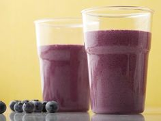 This Blueberry Blast Smoothie is made with skim milk, but you could substitute almond, soy or another kind of milk in its place.