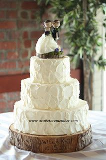 A Cake To Remember VA: Rustic Wedding Cakes Need No Cake Board