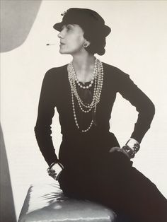Love coco Chanel- Want to make vintage inspired evening wear them join my fashion course at Morley college https://www.morleycollege.ac.uk/courses/2562-vintage-style-bridal-and-evening-wear/4088