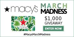Giveaway: Win a $50 Macy's Gift Card + 25% off All Clearance #MacysMarchMadness | AFrugalHome.com Hurry, ends Friday!