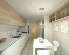 Decoración de cocinas alargadas #decoraciondecocinasideas