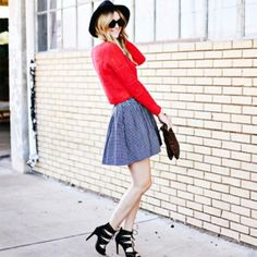 Dashofdarling in our favorite lace-up heels // #Fashion #StreetStyle