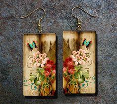 Romantic polymer clay earrings