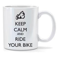 Tazza personalizzata Keep calm and ride your bike