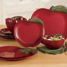 Apple Melamine Dinnerware Set