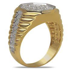 Ebay NissoniJewelry presents - Men's 1CT Diamond Two Tone Fashion Ring in 10k Gold    Model Number:GRV2914K-Y058    http://www.ebay.com/itm/Men-s-1CT-Diamond-Two-Tone-Fashion-Ring-in-10k-Gold/321612165490