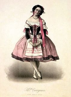 Antique Clip Art - Lovely Pink Ballerina - The Graphics Fairy