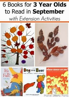 September Book Picks for 2 and 3 year olds with extension activities #readingactivities #ece