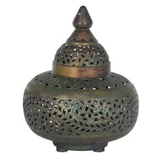 Moroccan Style Tetouan Antique Brass Table Lamp Complete 340mm