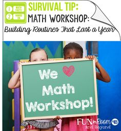 Interested in beginning Math Workshop?  Start Math Workshop off on the right foot by building routines that will last all year.