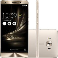"EU QUERO! Smartphone Asus Zenfone 3 Deluxe Dual Chip Android 6.0 Tela 5.7"" Qualcomm Snapdragon 2,15 GHz 64GB 4G Câmera 23MP - Prata"