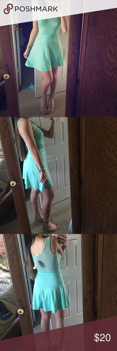 BRAND NEW PACSUN LA HEARTS MINT GREEN DRESS Brand new! LA Hearts brand from PacSun. Beautiful mint green color, perfect for spring and summer! Has a sort of tank top style neck made of mesh, with a sweetheart neckline of the main dress material. Adorable and flirty side mesh inserts at the waist. Skater/A-line style dress. Very soft and comfortable. Light breathable mesh material perfect for warm weather. Pair this dress with your favorite strappy sandals for a summer night out! Feel free to…