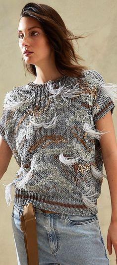 Knitwear Fashion, Knit Fashion, Sweater Fashion, Layering Outfits, Knitting Wool, Brunello Cucinelli, Knitting Designs, Cardigans For Women, Fashion 2020