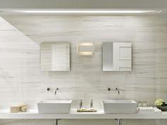 Pavimento/rivestimento in gres porcellanato smaltato effetto marmo MARBLELINE by MARAZZI