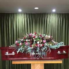 The casket spray I made for my Nanna's funeral - Australian natives, roses, casket spray, funeral flowers