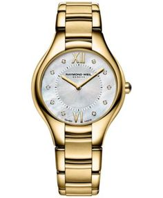 8f50f11e37c Raymond Weil Women s Swiss Noemia Diamond Accent Gold-Tone PVD Stainless  Steel Bracelet Watch 32mm 5132-P-00985 Jewelry   Watches - Watches - Macy s