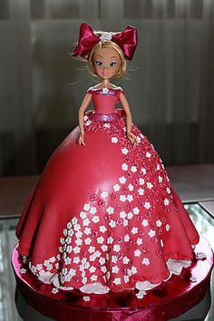 Not the cutest doll, but the dress part is pretty