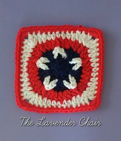 Stars & Stripes Afghan Square - Free Crochet Pattern Awesome pattern for either a captain america blanket or just a Fourth of July/Memorial/Labor day pattern!
