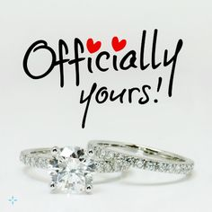 Officially yours! ❤
