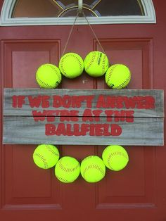 Baseball Wreath Softball Wreath Sports by CountryClutterHome Like and Repin. Thx Noelito Flow. http://www.instagram.com/noelitoflow