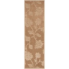 Meticulously Woven Jesse Transitional Floral Indoor/ Outdoor Area Rug