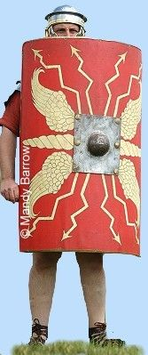 Soldier with shield.Scutum- shield On the left side of the soldier's body was his shield (scutum) used for protection. It was a semi-circular shield, designed so that any missiles thrown at the soldier would be deflected to one side16 Roman Shield, Roman Armor, Action Movie Poster, Action Movies, Movie Posters For Sale, Shield Of Faith, Roman Warriors, Poster Maker, History Projects