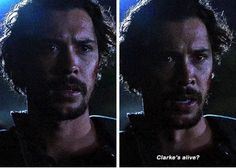 "Bellamy Blake finally knows that Clarke is alive.every time that Bellamy said anything close to Clarke is dead I literally started yelling NO SHE'S NOOOOT And when he finally found out Clarke was alive I was like ""BYE ECHO NO ONE CARES ABOUT U ANYMORE CLARKE AND BELLAMY ARE REUNITED #BELLARKE IS ENDGAME BITCH!"" don't judge me plz"