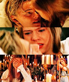 Leonardo DiCaprio and Claire Danes in Baz Luhrmann's Romeo + Juliet. Still annoyed with her as Juliet. Could have been cast better I feel.