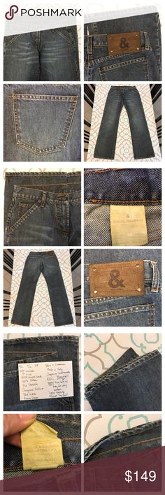 "💙👖Beautiful Dolce & Gabbana Jeans👖💙42 5/6 28 💙👖Beautiful Dolce & Gabbana Jeans👖💙 Italian Size 42. Size 28 (5/6). 100% Cotton. No Stretch. 33"" Inseam. 8"" Rise. 13.75"" Across Back. Please See and Compare measurements with your own non-stretchy jeans that fit!!! High Quality Heavy Denim. Beautiful Medium Blue Wash. Almost a hint of steel blue color. Gorgeous Details. Suede Patch. Tiny tiny specs of fray on bottom hems. Almost Like New. Superior Craftsmanship. Made in Italy. Ask me any…"