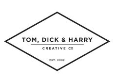 Identity system for Tom, Dick & Harry designed by Mike McQuade