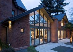 For bespoke conservatories, orangeries and glazed extensions, visit Viva today. Gable Roof Design, Modern Lodge, Timber Walls, Pergola, Glass Extension, Glass Structure, Design Consultant, Cladding, Architecture Design