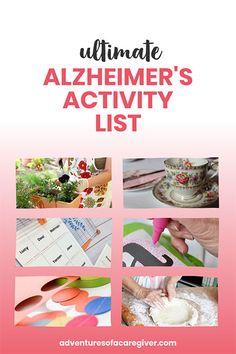 Over 75 Alzheimer& and dementia patient activity ideas. Activities For Dementia Patients, Dementia Crafts, Alzheimers Activities, Elderly Activities, Work Activities, Activity Ideas, Physical Activities, Spring Activities, Dementia Awareness