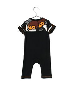 BAPE KIDS(ベイプキッズ)のALL BABY MILO MIX FOOTBALL ROMPERS(Tシャツ/カットソー) 詳細画像