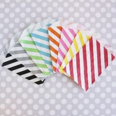 Teeny tiny diagonal stripe bags - set of 20 | Sweet Lulu.