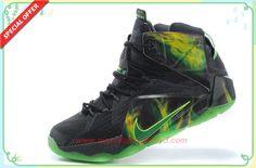 Buy Black/Grass-Green 684593-608 Nike Lebron 12 EP