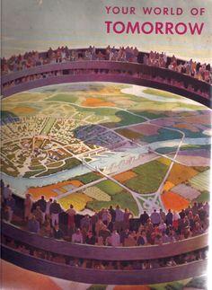 Democracity, inside the Perisphere - #NewYork Worlds Fair, 1939 Henry Dreyfuss, Exhibit Designer #Expo2015 #ExpoStory